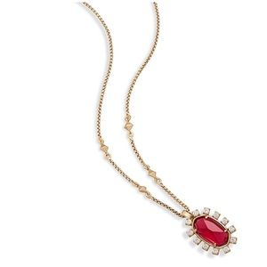 Kendra Scott Brett Pendant Necklace in Berry, NWT